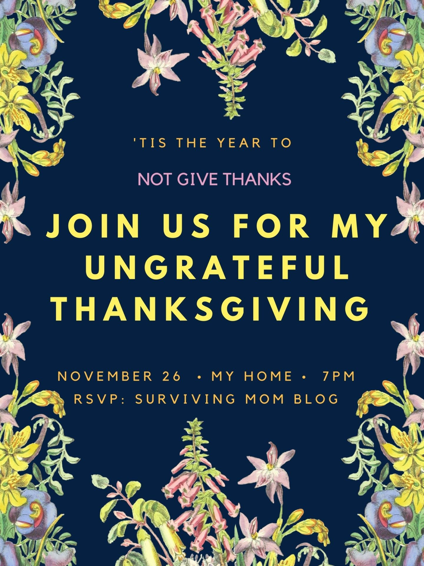 ungrateful thanksgiving