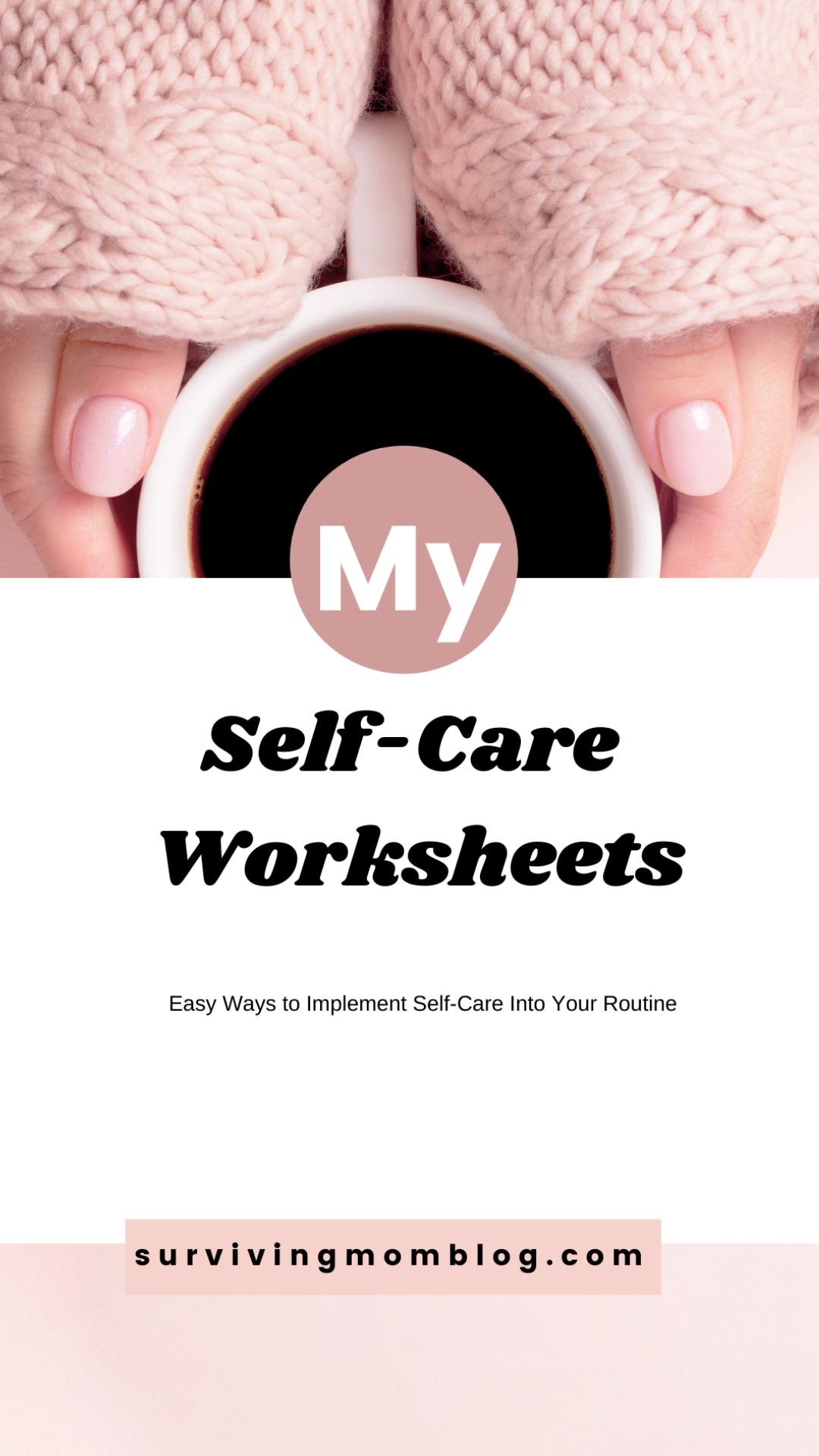 Daily Self-Care Worksheet Bundle (1)