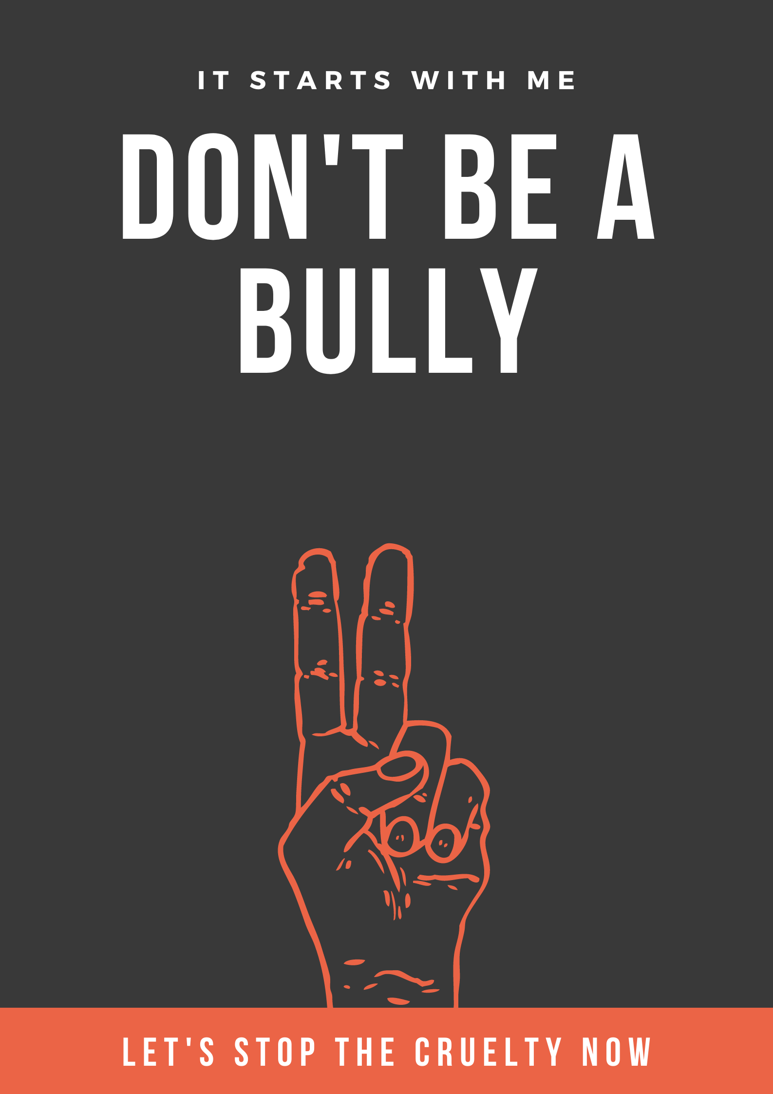 don't be a bully it starts with me