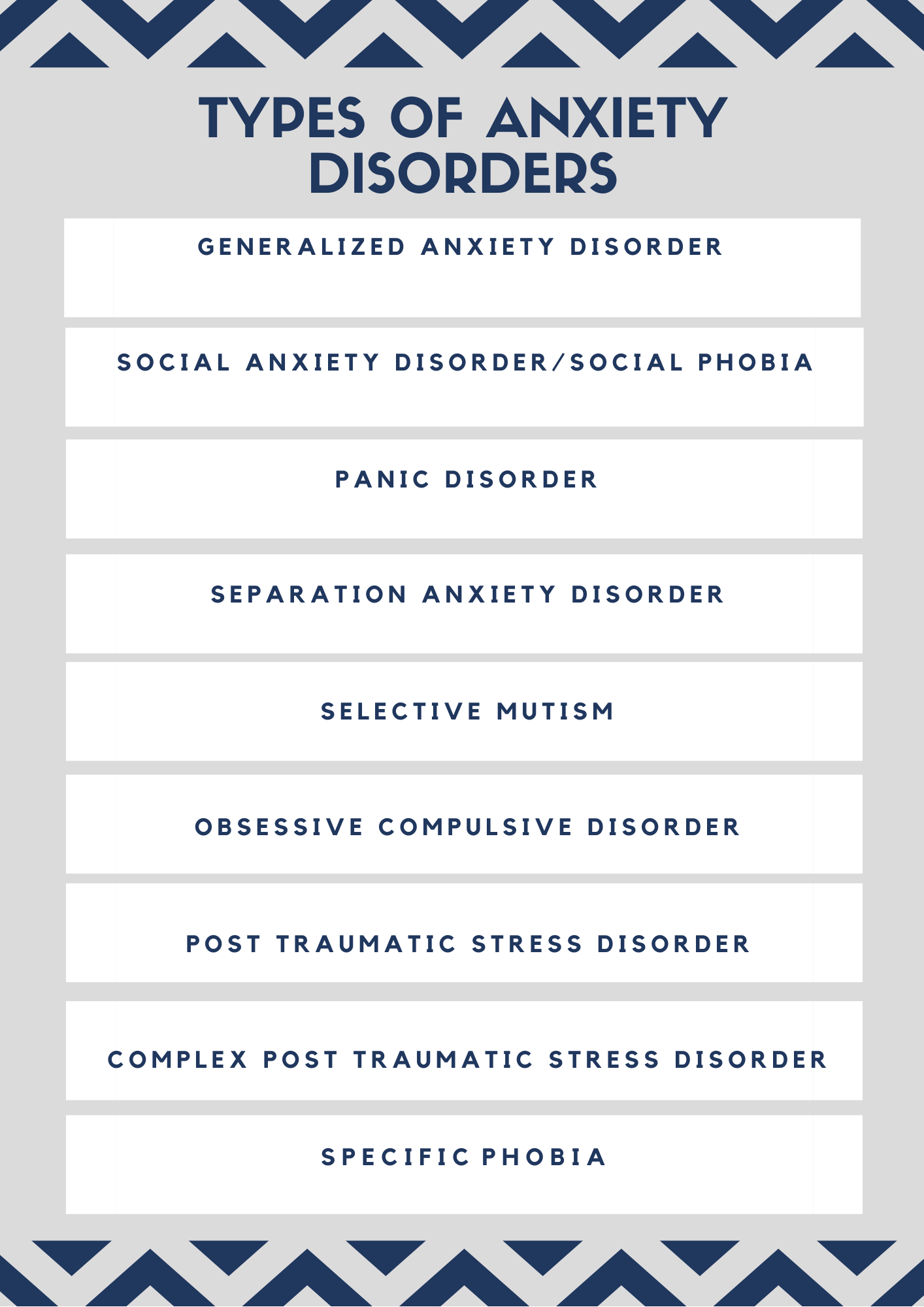 anxiety disorders in children and adults