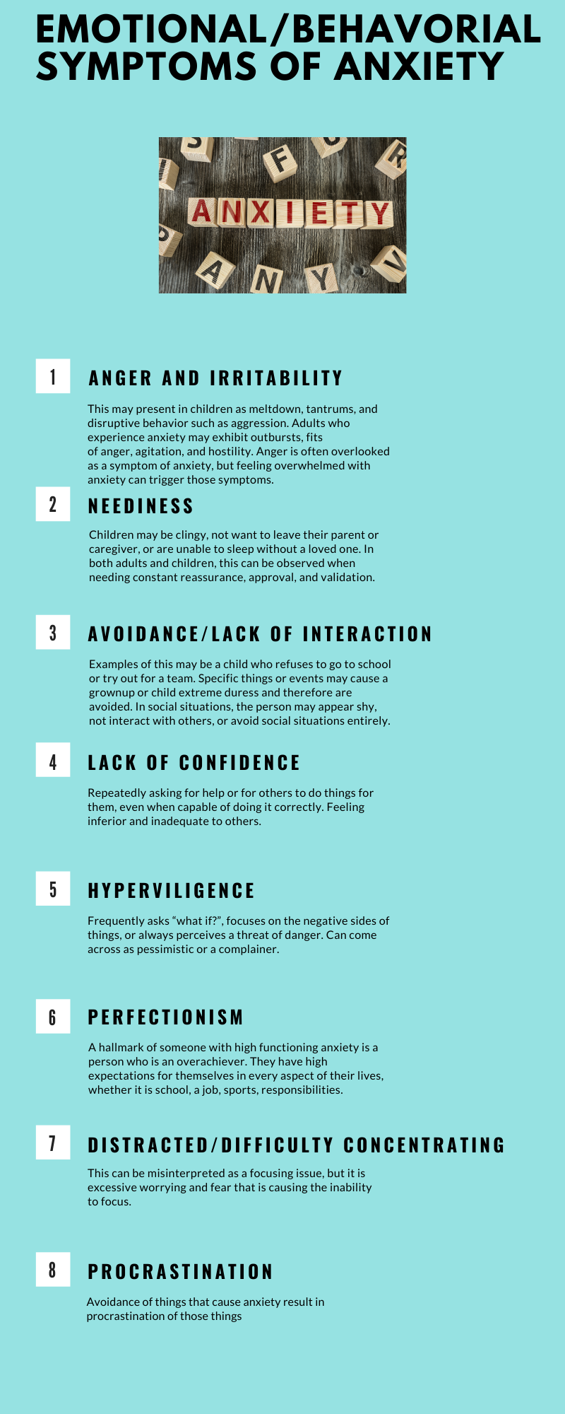 emotional symptoms of anxiety
