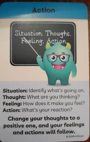 change thoughts to feelings