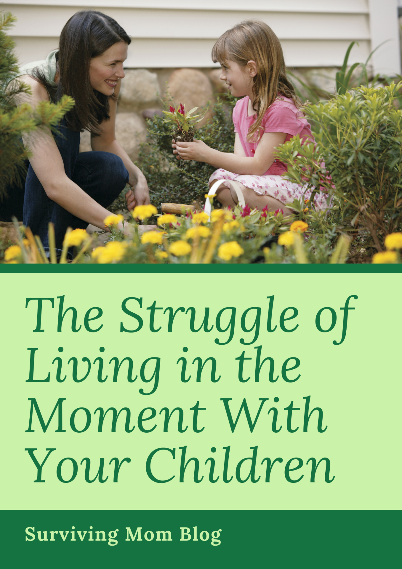 living in the moment with your child