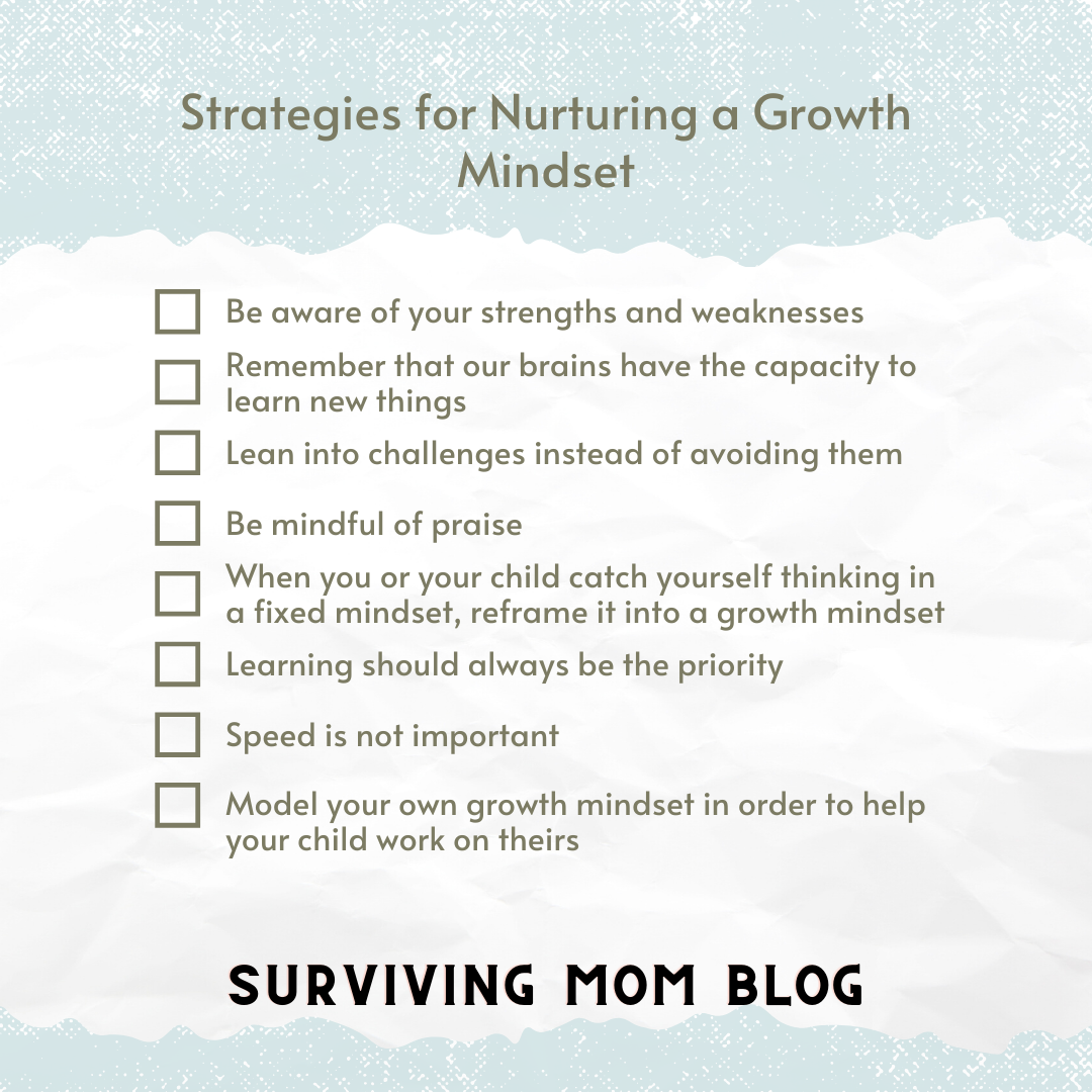 strategies for nurturing a growth mindset
